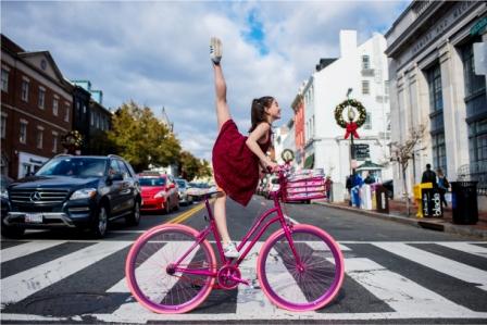 Jordan Matter Caroline bike in Georgetown